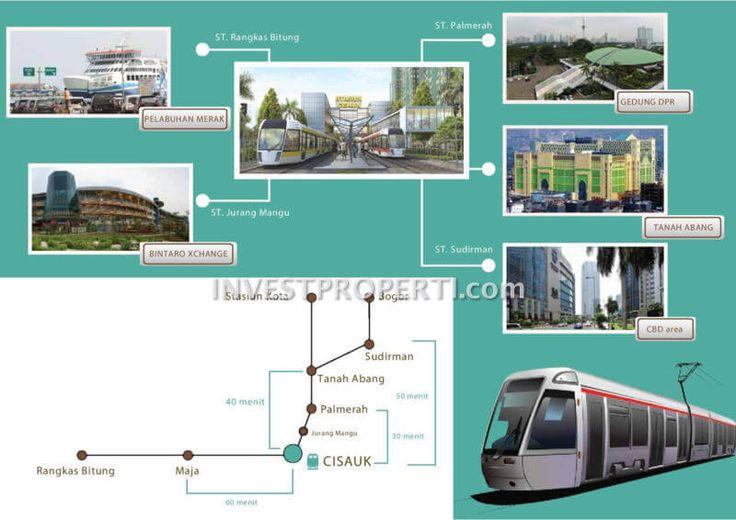 Akses kereta api Cisauk Serpong Garden apartemen.