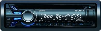 Radioodtwarzacz samochodowy CD i mp3 umożliwiający podłączenie smartfona, odtwarzacza WALKMAN®, iPoda lub telefonu iPhone przez łącze Bluetooth® oraz użycie aplikacji App Remote.