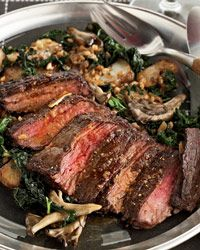 """Skirt Steak with Paprika Butter -  """"I love skirt steak because it's just fatty enough, and it cooks quickly, which is great for dinner parties,"""" says Vinny Dotolo. He serves the steak thinly sliced, with a lightly smoky, tangy paprika butter."""