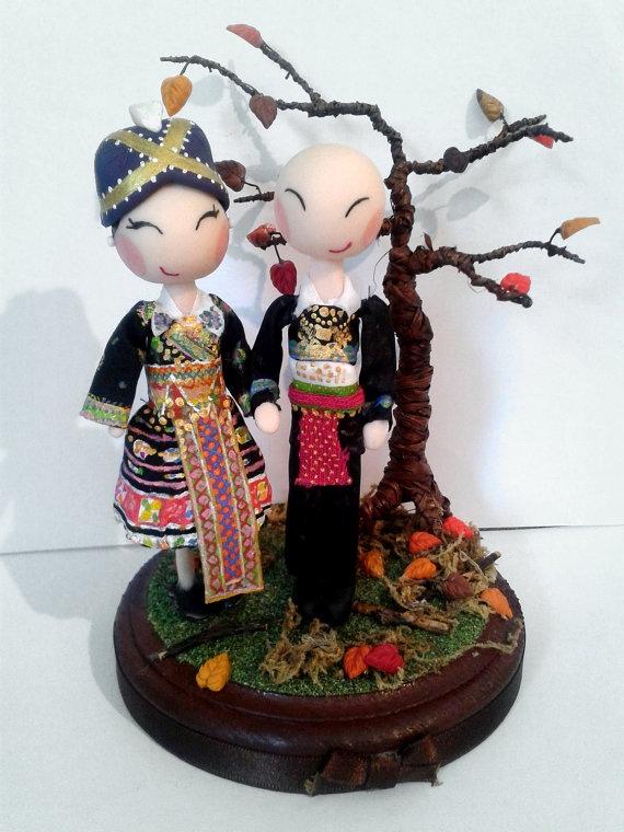 hmong wedding cake topper