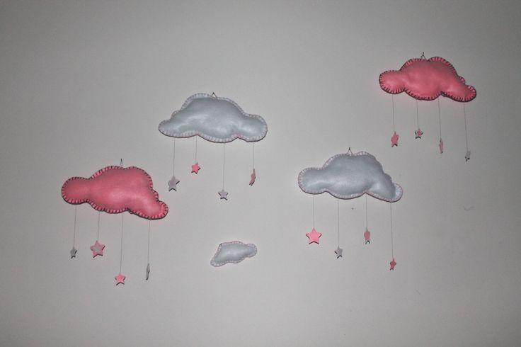 nuvolette in feltro