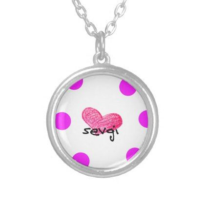 Uzbek Language of Love Design Silver Plated Necklace - jewelry jewellery unique special diy gift present
