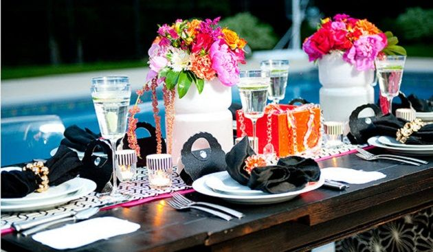 'Glam girls night' - cute for bachelorette party