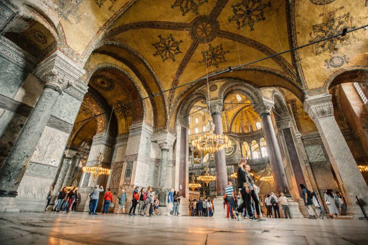 6. Inside the Hagia Sophia: A walk through the Hagia Sophia will leave you pretty close to breathless—the size, the details of the mosaics—it's definitely got the feeling of a beautiful marriage between Eastern and Western design.