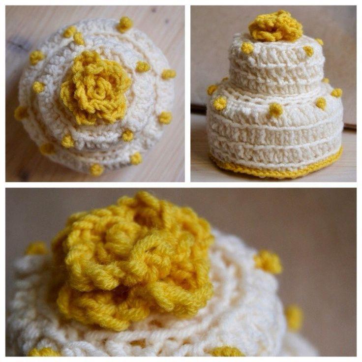 Вязаный крючком торт #торт #knitted #cake