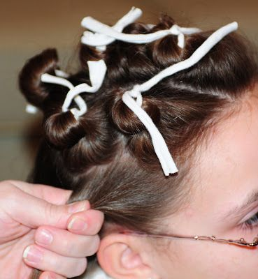 Large Families on Purpose: Fun Hair for Girls: How to Get Spirals with Rag Curlers