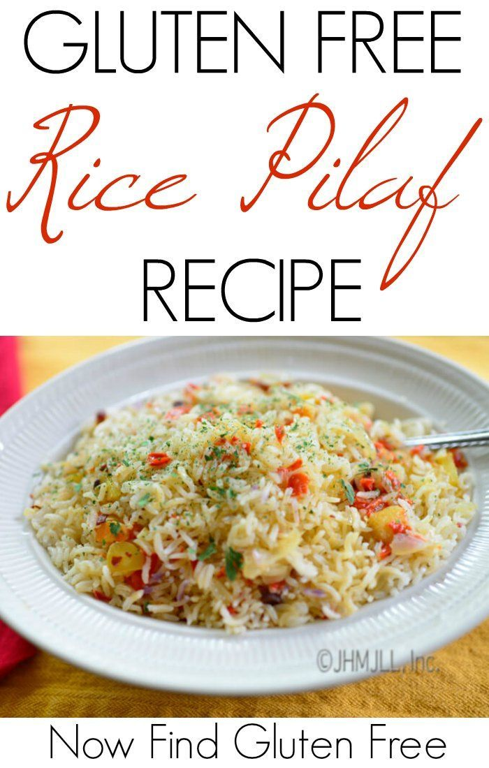 Rice pilaf is a great way to dress up regular rice with endless possibilities. This is a basic recipe for rice pilaf, so let your imagination run a little wild and create your own amazing dishes. | gluten free rice pilaf | rice pilaf recipe | how to make