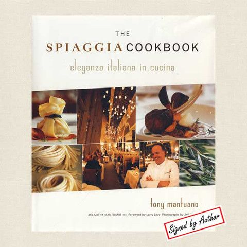 Spiaggia Cookbook Autographed - Chicago Italian Restaurant - Cookbook Village vintage and used cookbooks store online. $19.80
