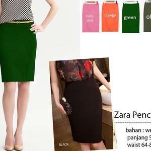 Zara Pencil Skirt / Pensil Skirt / Rok Pensil