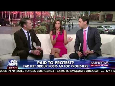 Far left group post ad for protestors:  Fox & Friends calls out George Soros for funding riots made to create anarchy and confusion.
