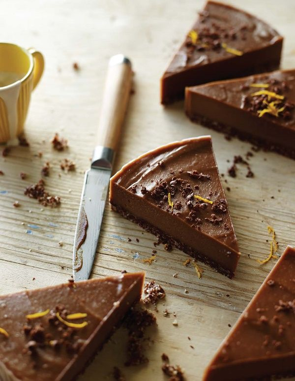 Raw Chocolate Orange Torte Recipe - Vegan + Gluten-Free