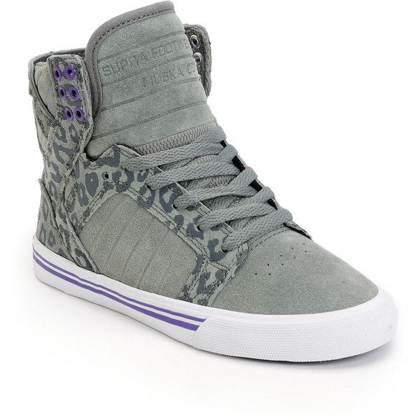 supra womens skytop grey cheetah print high top shoe 95  liked on polyvore