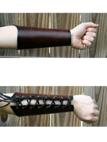 Leather Lace Up Archer Bracer Arm Armor: I'm not that into ren faire/period/steampunky fashion, but I could live with this making a comeback. ARM CORSETS!
