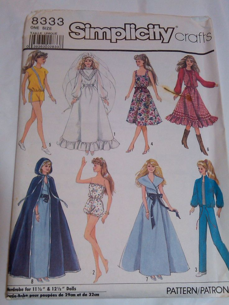 92 best Barbie Sewing Pattern Collection images on Pinterest ...