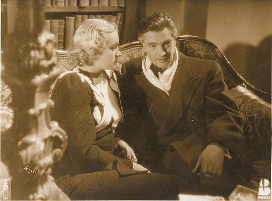Rolf Wanka naposledy v českém filmu. S Adinou Mandlovou v detektivní komedii Krok do tmy (1938).