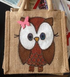 painted hessian bags - Google Search