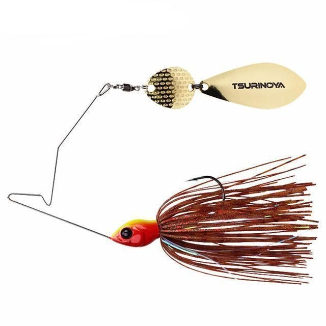 4pcs//lot Spinnerbait Fishing Lure Metal Spoon Spinner Bait Trout Fishing Tackle