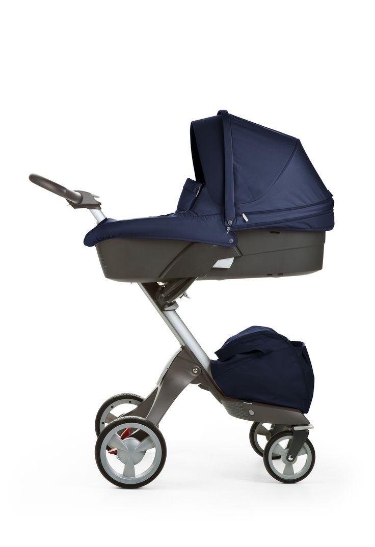 best baby strollers images on pinterest  baby strollers baby  - deep blue fabric scandinavian designed modern stroller stokke xplroy
