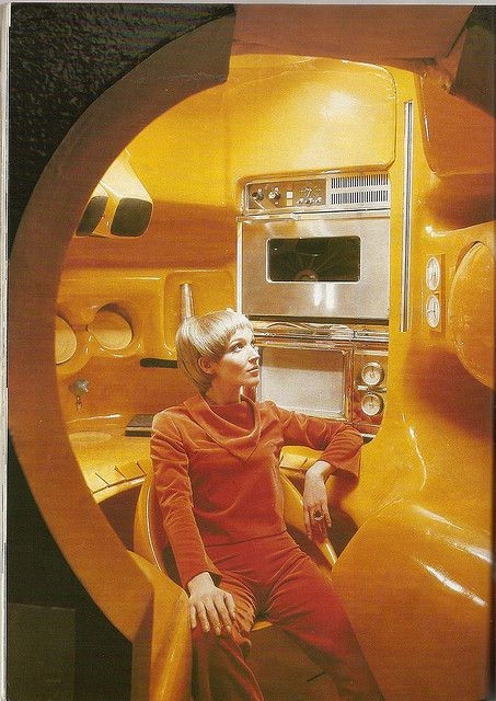 Kitchen designed in the 70's by Luigi Colani, displayed in MoMA, New York
