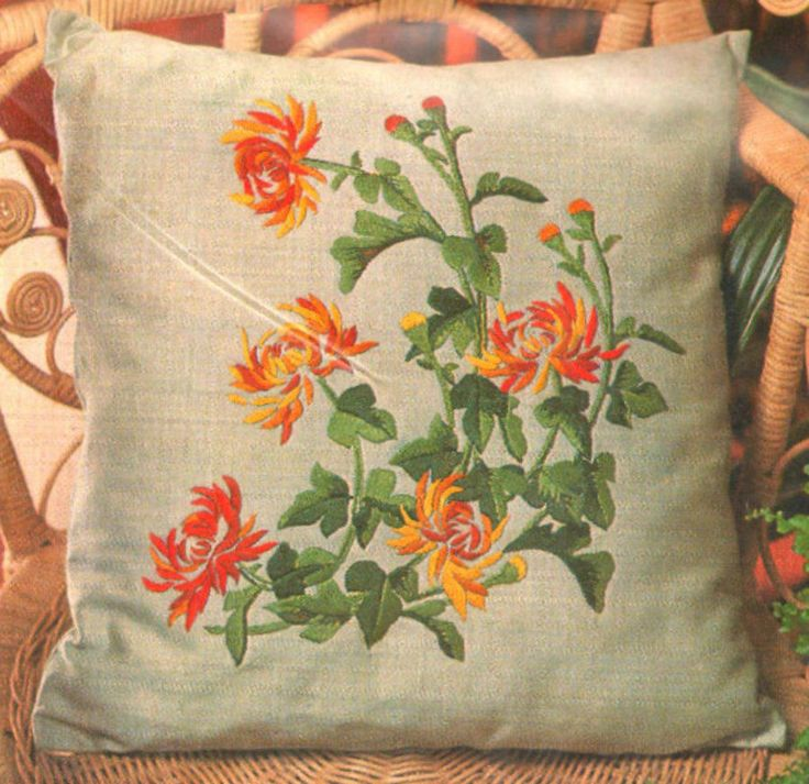Vintage penelope floral quot chinese chrysanthemum crewel