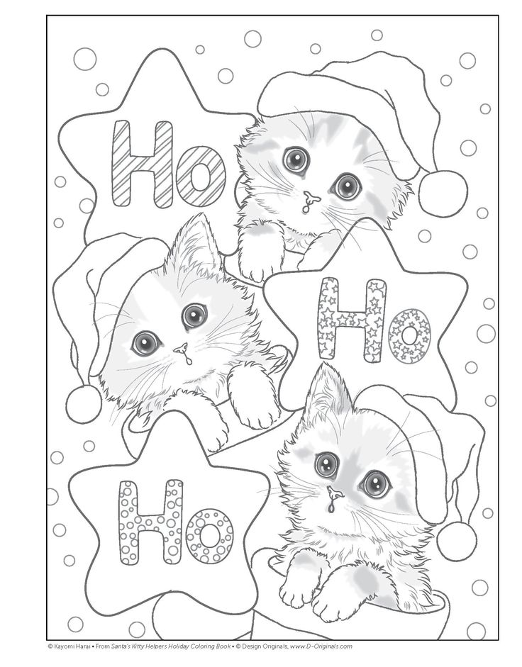 Santa's Kitty Helpers Holiday Coloring Book (Design Originals): Kayomi Harai: 0023863059121: Amazon.com: Books