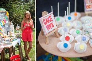 The TomKat Studio: Nancy O'Dell's Rainbow Art Party…