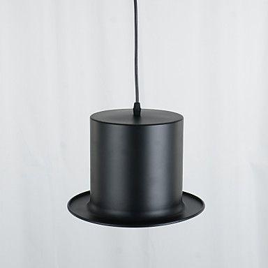 Top Hat Pendant, 1 Light, European Style Black Aluminium Metal Schilderen – EUR € 29.02