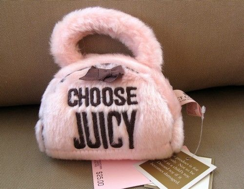 Juicy Couture Purse Dog Toy                                                                                                                                             ~DoggyStyle'N~