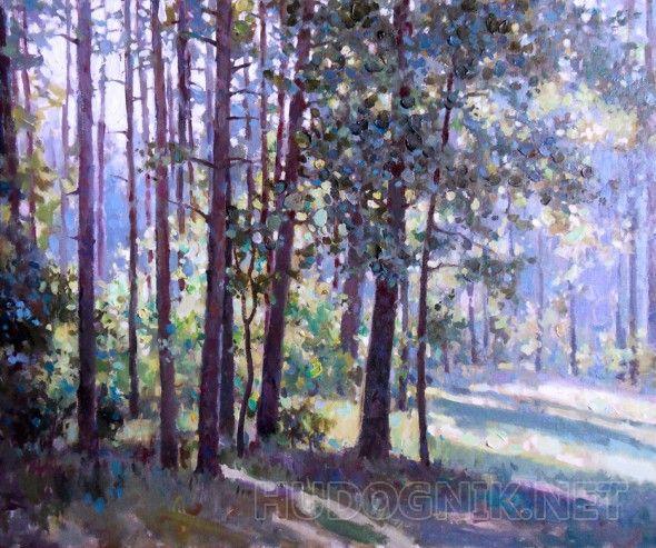 Дубки в сосновом лесу