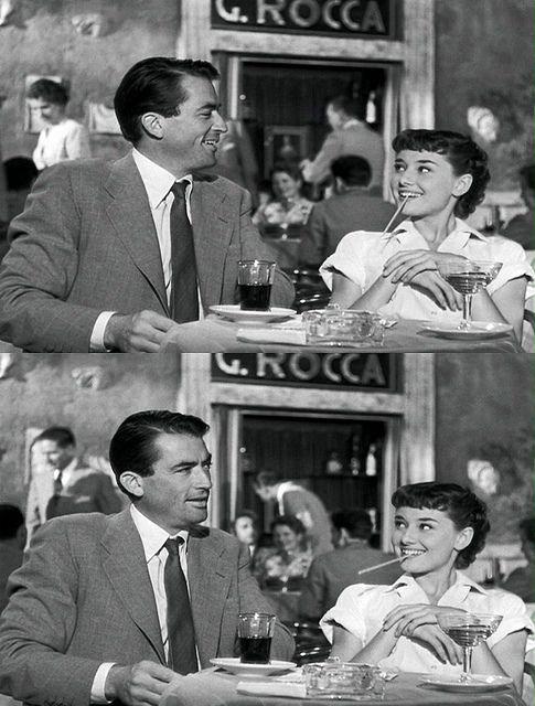 Audrey Hepburn in Roman Holiday.