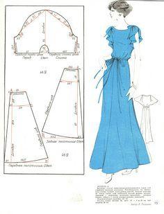Vintage dress , Pattern instructions