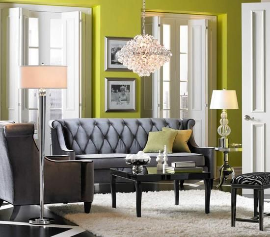 Living Room, Crystal Chandelier In Transitional Living Room That Looks Simple Green Color Wall Hanging Lamp Picture Black Color Picture Window That Looks Well Style Picture Furniture And Accessory ~ Make Your Ideas Home Will Be The Nice Style With Choose The Best Concepts Of Benches For Living Rooms Like This Idea
