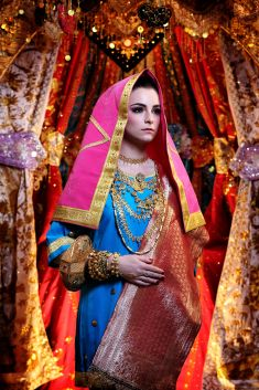 Indian wedding dress idea | Project by Beauty by Yusti http://www.bridestory.com/beauty-by-yusti/projects/minang-bride-garuda-indonesia-inflight-magazines-spread