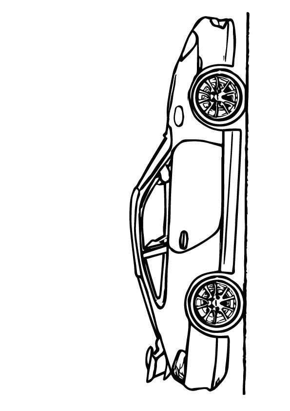 Print Coloring Image Malvorlagen Porsche Gt3 Muscle Cars Und