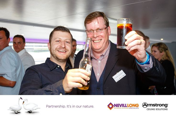"""""""Neil McColl from D V McColl Ltd and Andy Goodwin from @ArmstrongCeilin - cheers!"""""""