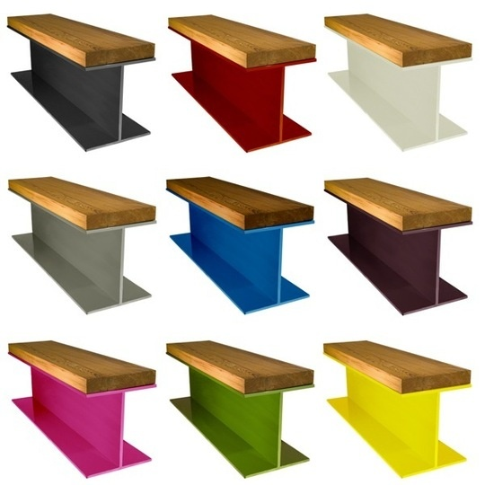 Lucky Beam Bench: bench modeled after i beam