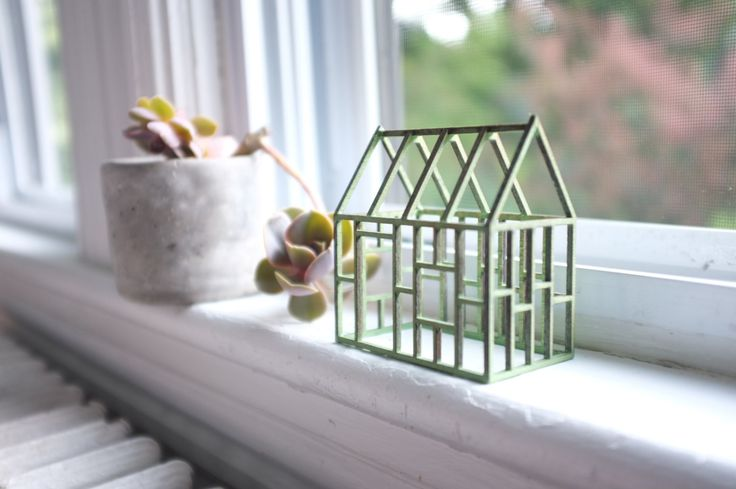 Small verdigris geometric framework house in birch - antique jade color - rustic minimalist by 2of2 on Etsy https://www.etsy.com/uk/listing/126633845/small-verdigris-geometric-framework