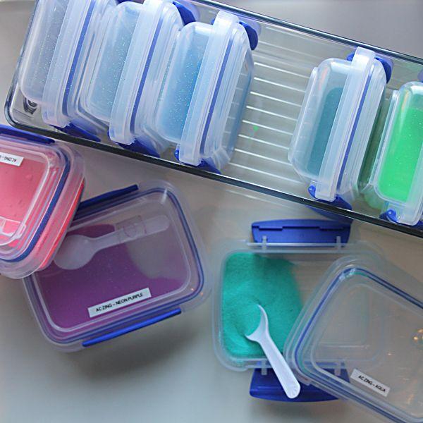 Organizational Tips by Nichol Magouirk on Embossing Powder Storage.