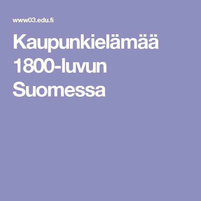 Kaupunkielämää 1800-luvun Suomessa