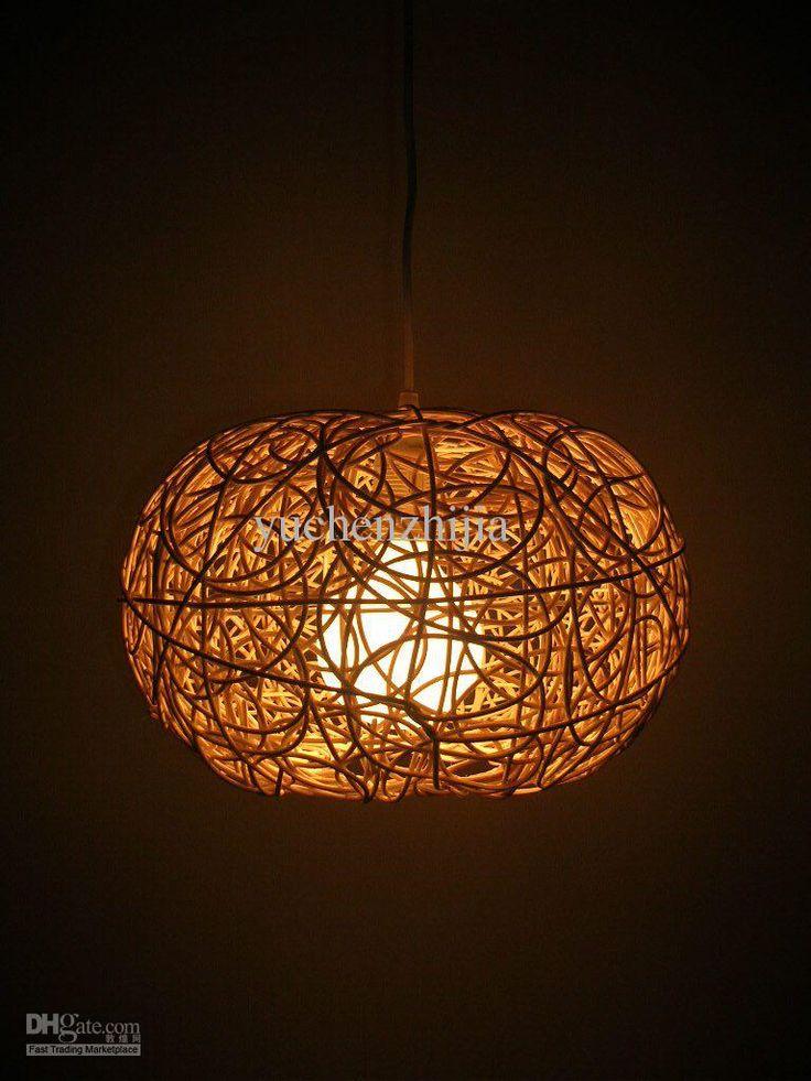 pumpkin art pendant light