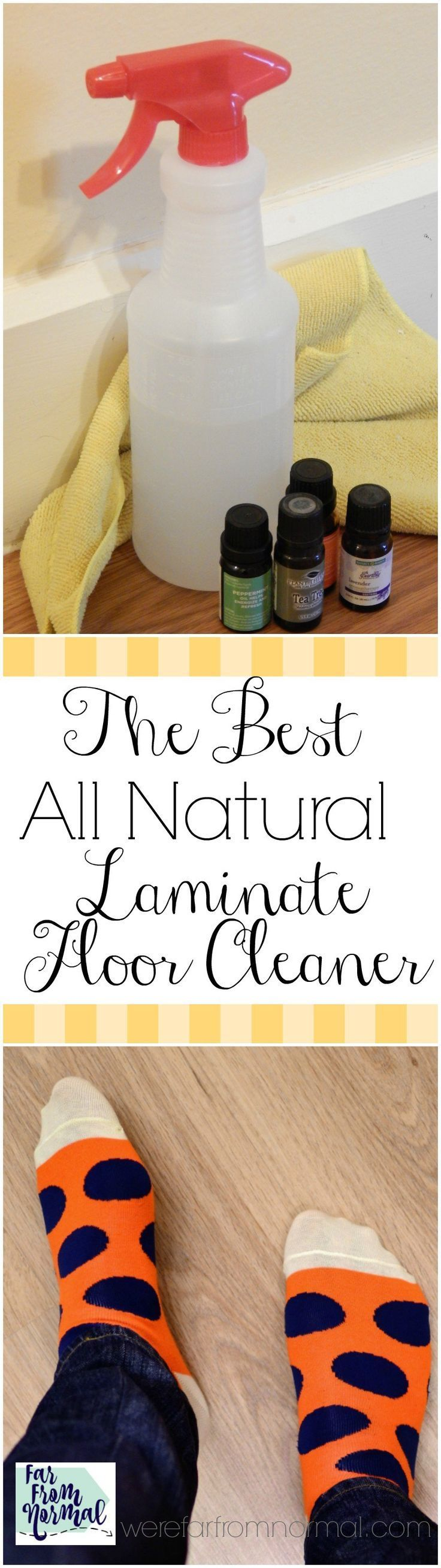 Do you have laminate floors and need an easy way to clean them? My laminate floor cleaner not only works great but is free of any harsh chemicals!