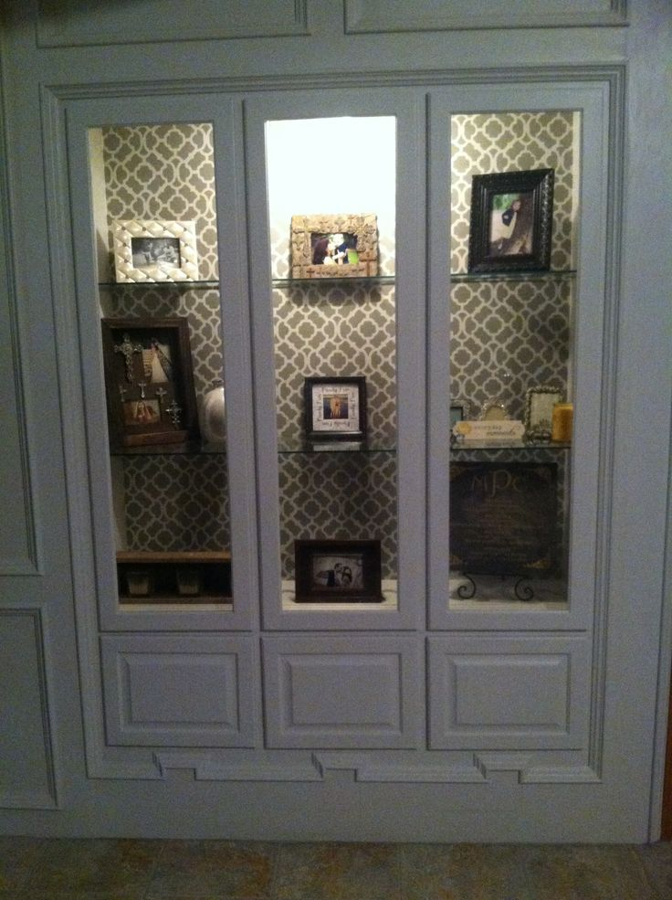 Built In Gun Cabinet I Turned Into A Curio Type Cabinet