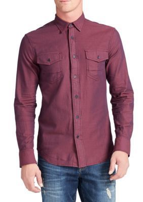 WILLIAM RAST  Port Royale Branson Long Sleeve Herringbone Shirt