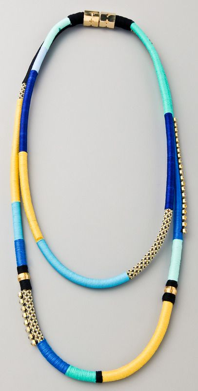 Two String Multi-Strand Necklace