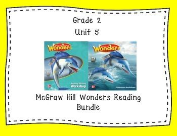 Coral's Corner has heard your feedback and is happy to present it's FIRST BUNDLE!  This 34 page 2nd grade interactive journal BUNDLE is aligned to Common Core and to the McGraw Hill Wonders series. It contains all weeks in Unit 5! These journal entries allow students to be engaged while reading the text.  These can easily be folded to fit in the students composition books or journals.