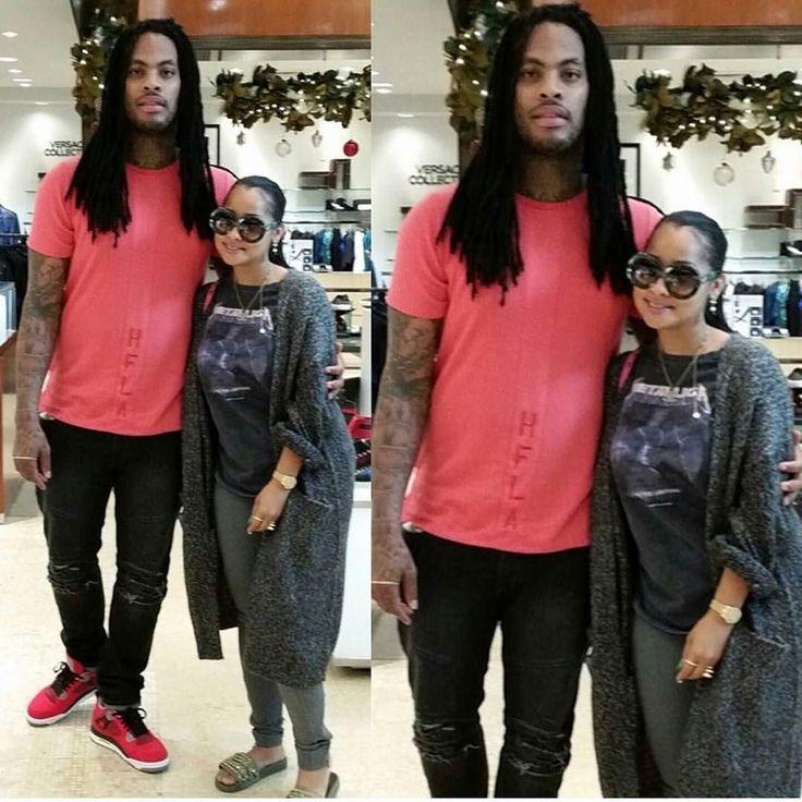 Love & Hip-Hop: Atlanta's Waka Flocka Flame & Tammy Rivera pose while out shopping in Phipps Plaza Mall in Atlanta.