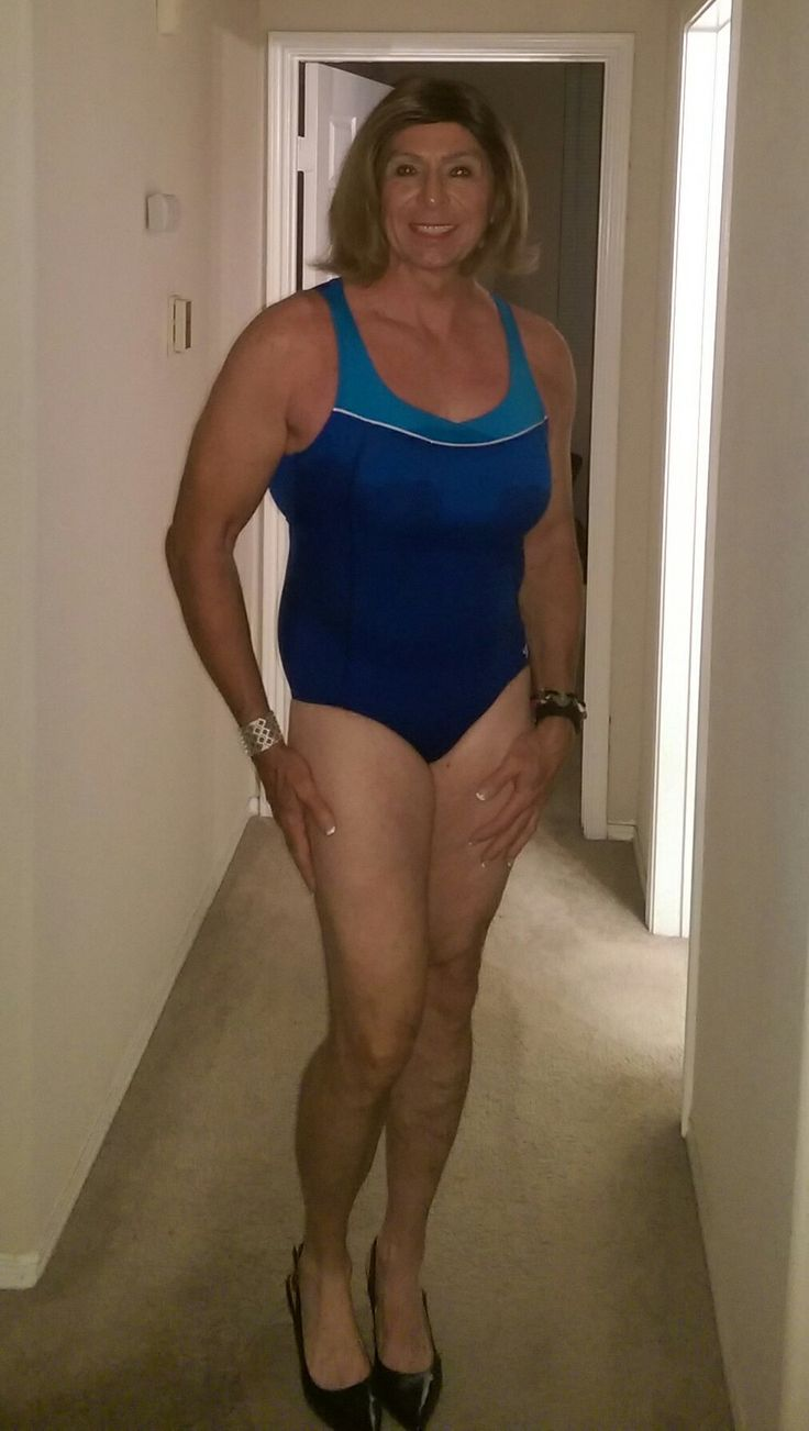 swimsuit crossdress An Admirer of Girls with a Little Something Extra · CrossdresserVintage  DressesSwimsuits