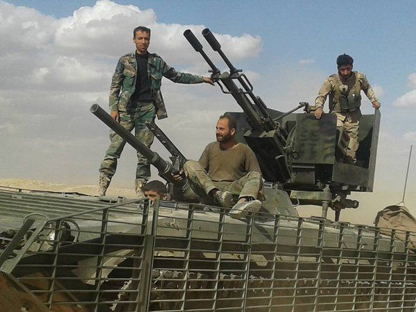 SyAA BMP-1 with ZU-23 near Shaer gas fields.