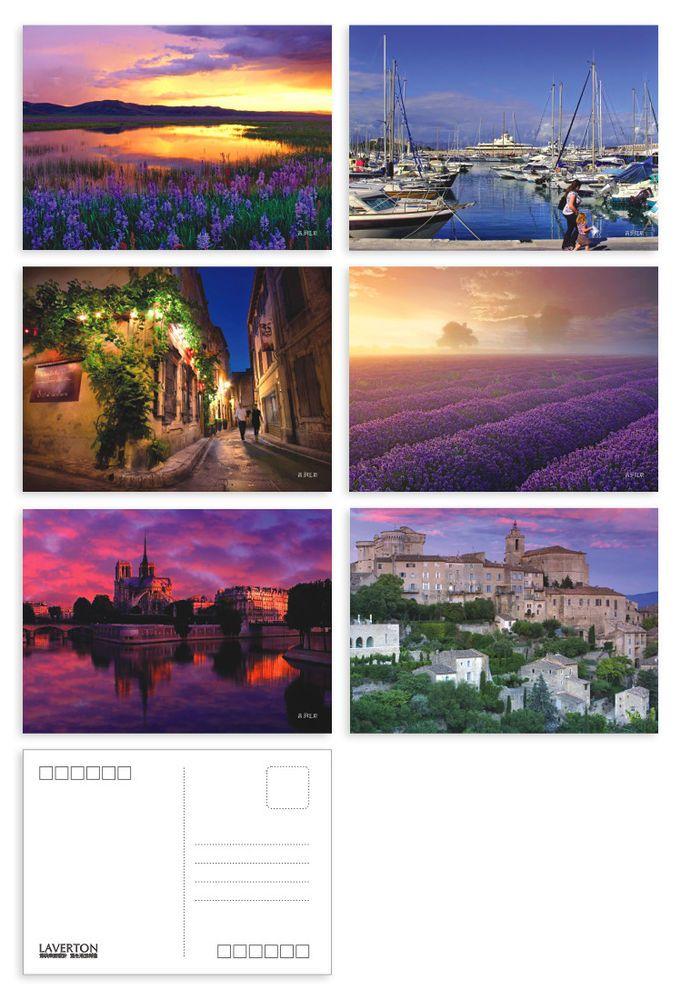 6 Postcards Collection: European Best Destinations France Provence Set One Tour