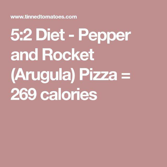 5:2 Diet - Pepper and Rocket (Arugula) Pizza = 269 calories